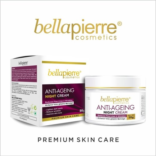 18 Months Mineral Bellapierre Anti Ageing Night Cream, Packaging Size: 50gms