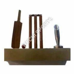 Metal Bat Ball Stump and Momento Table Top
