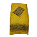 Yellow Printed Suit Fabric