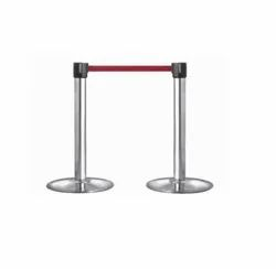 Stainless Steel Retractable Crowd Control Queue Rope Barrier