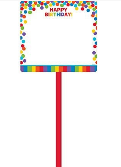 Amscan Primary Rainbow Birthday Blank Yard Sign
