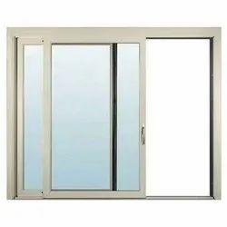 Modern Two Track Aluminium Sliding Window, For Residential & Commercial