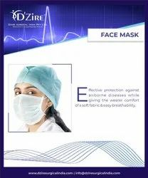 2 Ply Lace Loop Disposable Face Mask