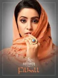 Samaira Fashion Filhall Pure Maslin Silk With Embroidery Work Suits Catalog