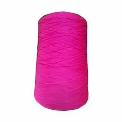 Pink Polyester Textured Yarn
