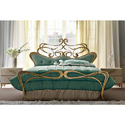 Wrought Iron Golden Designer Bed