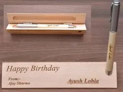 Customized Engraved Wooden Pen