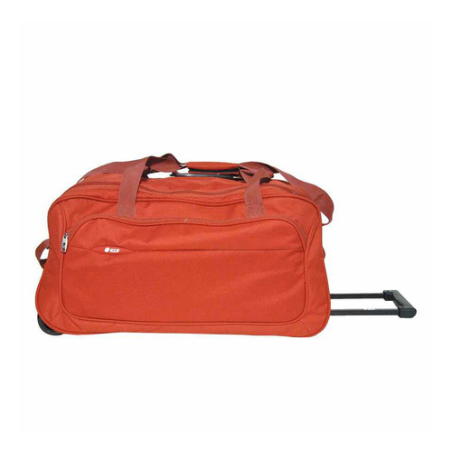 Orange Plain VIP Designer Duffle Trolley Bag