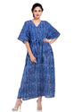 Indigo Blue Long Kaftan Nighty