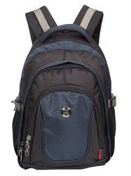 Black & Navy Blue Apollo Casual Laptop Backpack Bag
