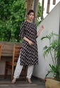 Coffee Kurti With Straight Pant