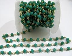 AAA Quality Amazonite Hydro Quartz Beaded Chain