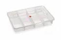 Nakoda Transparent 8 Fixed Partition Box, Box Capacity: 1 Kg, 380 L X 257.5 W X 65 H