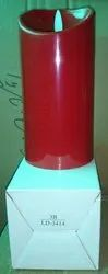 LD-3414 LED Pillar Candle Red 1 Pc