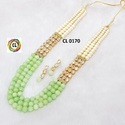 Cl Code Shell Pearl Agate Kundan Customised Fashion Jewellery Party Wear Necklace Set