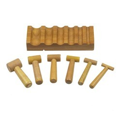 Wooden U Channel Forming Block & Hammer