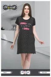 Ladies Printed Cotton Half Sleeve T-Shirts