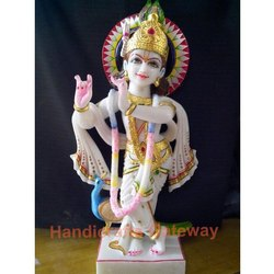 Beautiful Marble Krishna God Statue