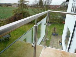 Glass Stainless Steel Balcony