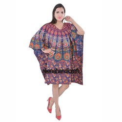 Cotton Mandala Women Caftan Dress