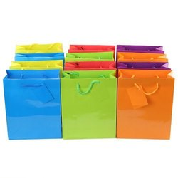 Rope Handle Plain Paper Bag, For Shopping, Capacity: 5kg