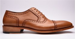 Lace Up Tan Captoe Oxford Shoes