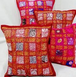 Indian Banjara Square Cushion Cover Vintage Cushion Cover