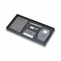 Notebook, Card Holder, Clock, Key Chain & Pen Gift Set