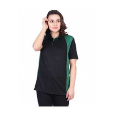 UB-D-Tee-07 Black & Green Designer Polo T-Shirt For Female