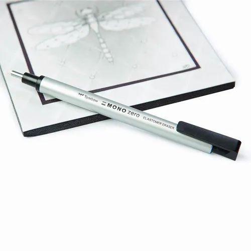 Mono Zero Round Shapre Silver Tombow Holder Eraser EH-KUR04
