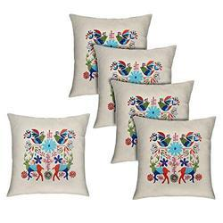 Multicolor Embroidered Cushion Cover