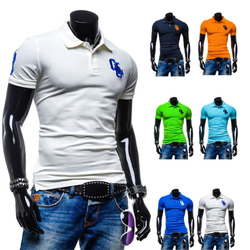 Polyester Men 's Polo T-shirts