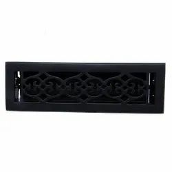 Flower Iron Wall Register with Louver - 2-1/4inch x 12inch (3-7/8inch x 13-1/2inch Overall)