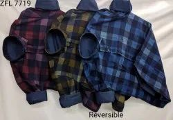 Checked Collar Neck Reversible Shirts