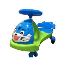 Blue And Green Plastic Baby Car