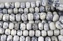 Dendrite Opal Faceted Roundel Beads
