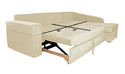 Adorn India Comfort Line Corner Sofa Cum Bed (Beige)