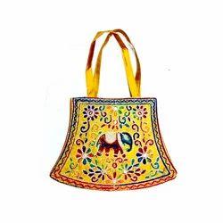 Multy Mirror Work Handy craft Hand Bag
