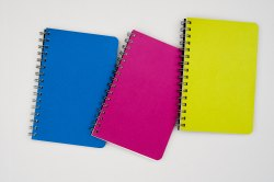 A5 Wire-o Multicolor - Premium Notebook - 200 Pages (21.0 x 13.5 cm)- Menorah