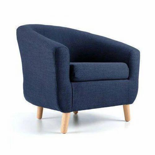 Single Sofa Set Designs: Blue Designer Single Seater Sofa, Rs 5000 /piece, Ram