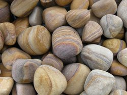 Smooth Rainbow Stone Pebble for Landscaping