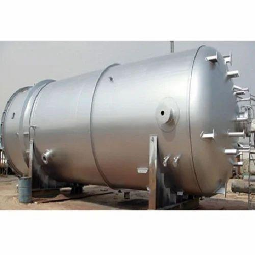 Mild Steel High Pressure Vessel Tank, Capacity: 500-1000 L, Rs 70 ...