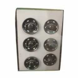 Metal Round Garments Chit Button, Packaging Type: Box