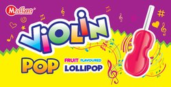 Violin Pop  Fruit Flavored Lollipop