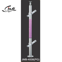 Pink Crystal Glass Holding Baluster