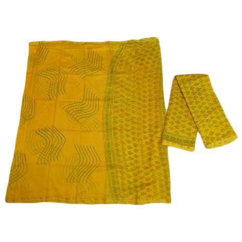 Unstitched Chanderi Dabu Print Suit