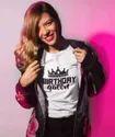 Birthday Queen Printed TShirt for Girls