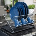 Magna Homewares Aspro X-Style 2-Tier Folding Dish Drainer Rack with Drain Board