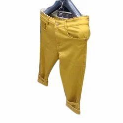 Yellow Casual Pant