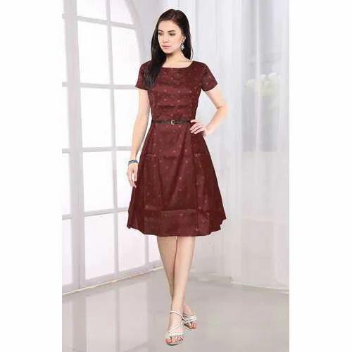 5d774cdb878 Round Neck Designer Western Dress